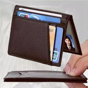 SUPER SLIM Genuine Leather RFID wallet card holder